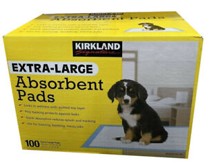 Extra-Large Absorbent Pads, Kirkland Signature, 30 in L X 23 in W, 100-count