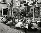 1955 VESPA MOTOR SCOOTER MOTORCYCLE 8X10 PHOTO ROME ITALY OLD POSTERS BACKGROUND
