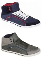 New Mens Designer Crosshatch SPINDLE Casual Hi Tops Lace up Ankle Trainer Shoes