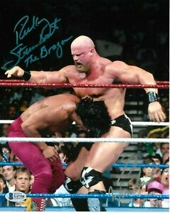 WWE RICKY STEAMBOAT WARLORD HAND SIGNED AUTOGRAPHED 8X10 PHOTO WITH BECKETT COA