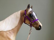Traditional Scale Amethyst Purple Model Horse Halter For Breyer