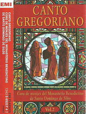 Canto Gregoriano Vol. 2 CASSETTE Coro De Monjes Del Monasterio Benedictino EMI