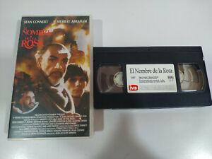 El Name de La rosa Sean Connery VHS Tape Spanish - 2T