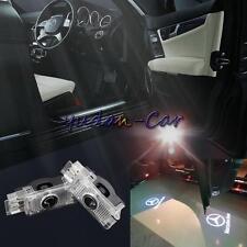 2x LED White 3D Logo door Projector light For Mercedes-Benz 01-09 CLK W208 W209