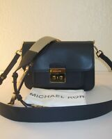 Michael Kors Admiral Navy Leather Sloan Editor Shoulder Crossbody Bag $298