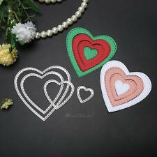Heart Metal Cutting Dies Stencil DIY Scrapbooking Embossing Paper Card Decor