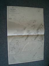 Vintage Admiralty Chart 1592 CHINA - YUNG RIVER & APPROACHES 1907 edition