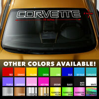 "Corvette Outline Windshield Banner 35"" Vinyl Decal Sticker for Chevrolet C4 ZR-1"