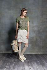Unifarbene knielange Damenröcke aus Leinen