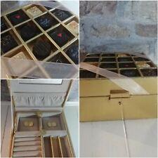Jewellery Box Gold Chocolate Box Trinket Case Travel Jewellery Case With Key