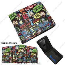 Anime Rick and Morty Wallet Bifold Coin Faux Leather Purse Otaku Gift New Hot