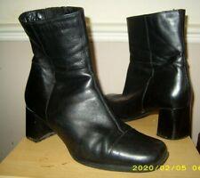 CLARKS  💕 LADIES BLACK LEATHER MID CALF BOOT - UK 6   EUR 39