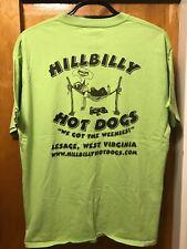HILLBILLY HOT DOGS West Virginia  ~ XL ~  We Got The Weenies! ~ 2 Sided T Shirt