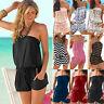 Ladies Women's Summer Mini Strapless Play-suit Romper Jumpsuit Beach Size Dress