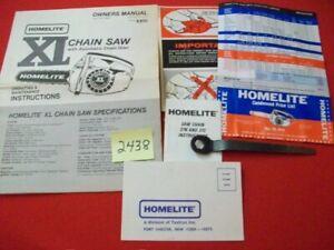 VINTAGE 1979? HOMELITE XL CHAIN SAW W/ AUTO-OILER OPERATING & MAINTENANCE MANUAL