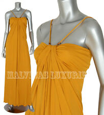 GUCCI GOWN GRECIAN DRAPED DRESS WITH BAMBOO DETAIL sz XS / EXTRA SMALL