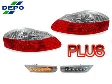 DEPO 97-04 PORSCHE BOXSTER 986 RED/CLEAR TAIL + LED BUMPER SIDE MARKER LIGHT