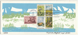 Stamps 1981 Animal conservation USA limited edition Virginia Moffett artist FDC