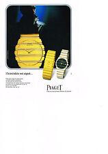 PUBLICITE ADVERTISING  1984   PIAGET  montre  Quartz
