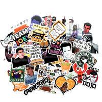 66pcs Skateboard Stickers Vinyl Laptop Luggage Decals Dope Sticker Old Friends