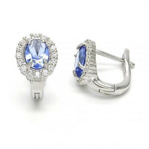 BEAUTIFUL  EARRINGS  WITH PURPLE AND  CZ STONES RHODIUM  SILVER !!!