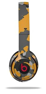 Skin Beats Solo 2 3 Old School Camouflage Camo Orange Headphones NOT INCLUDED