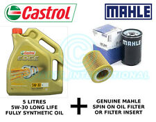 MAHLE Engine Oil Filter OX 414D2 plus 5 litres Castrol Edge 5W-30 LL F/S Oil