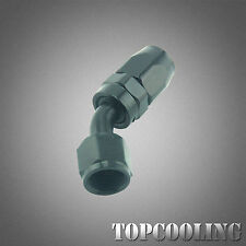 AN10 10AN 45 Degree Swivel Hose End Fitting Adapter Black Aluminum