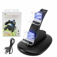 Xbox One Dual Controller LED Charger Dock Base Station USB Fast Charging Stand