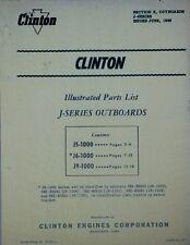 Clinton J5-1000 J6-1000 J9-1000 Outboard Motor Boat Parts Repair Manual Catalog