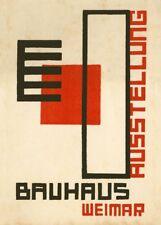 Vintage Bauhaus exposición de 1923 (Kurt Schmidt) 250gsm A3 cartel de reproducción
