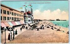 OCEAN PARK, California  CA   OCEAN FRONT  Beach Scene  1912   Postcard