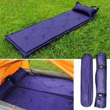 Self Inflating Mat Mattress Pillow Sleeping Bed Camping Hiking Picnic festivals