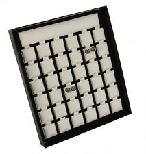 Earring Display Stand with Puff Pads Jewellery Organiser Holder Showcase