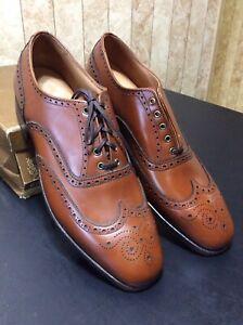 Vintage Cole-Haan Imperial Grade Men's Shoes NOS Brown Wing Sz 9.5 AA/B
