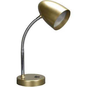 Gold Desk Lamp Mainstays LED Table Desk Nightstand Dorm Student Light Flexible