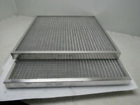 "Air Handler 2TJ11 24""x24""x2"" Aluminum Mesh Washable Air Return Filter Lot Of 2"