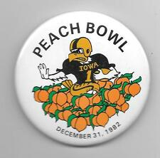 PEACH BOWL Iowa Hawkeyes 1982 pinback button pin