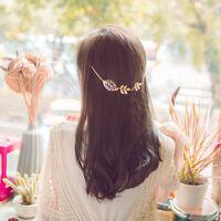 2017 Gold Leaves Hair Chain Hairpin Hairband Head Headdress Womens Girls