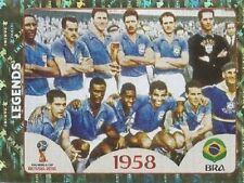 672 Legends Brazil 1958 foil Panini 2018 World Cup Russia sticker shiny