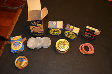 Vintage Ball Canning Supplies Zinc Caps Dome Lids Jar Rubbers Original Boxes