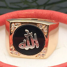 Big Lucky 18K Gold Plated Wedding Ring Fashion Men/Women Jewelry Ring Size 11