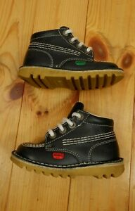 Infants Kickers Kick High Boots Shoes EU 24 VGC Made in France