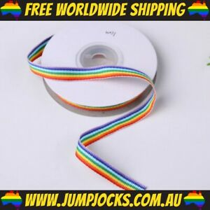10mm Rainbow Ribbon - 4.5 Metres - Pride, Gay, Bright *FREE WORLDWIDE SHIPPING*