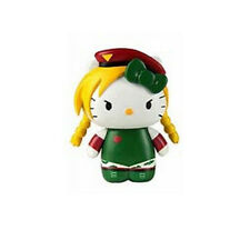 Hello Kitty Street Fighter Cammy Mobile Plug Charm Figure NEW Toys Toynami