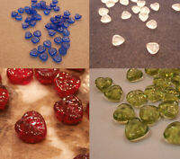 50 pcs 9mm x 8mm transparent olivine green pressed glass butterfly shaped beads