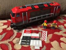 Used Lego CITY TRAIN 60098 DIESEL LOCOMOTIVE + TWO minifigure ONLY