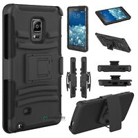 Rugged Hybrid Case Cover + Belt Clip Holster For Samsung Galaxy Note Edge N915