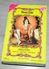 BOITE DE HENNE COLOR NEUTRE TEINTURE POUR CHEVEUX 100grs  NEUF