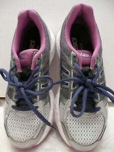 Asics Womens Size 5 T765N Gel-Contend 4 Grey/Purple/Blue Running Gym Walking
